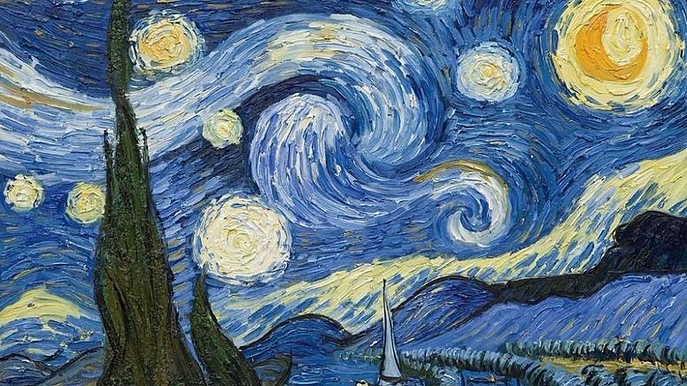 1. Yıldızlı Gece ( The Starry Night ) , 1889