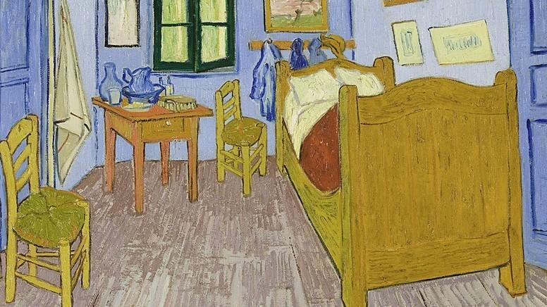 4.  Arles'teki Yatak Odası (Bedroom In Arles ) , 1889
