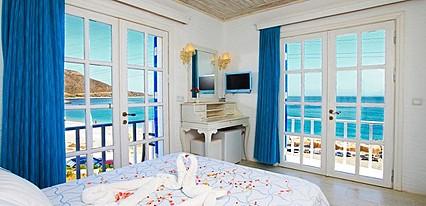 Datca Otel Mavi Beyaz Oda