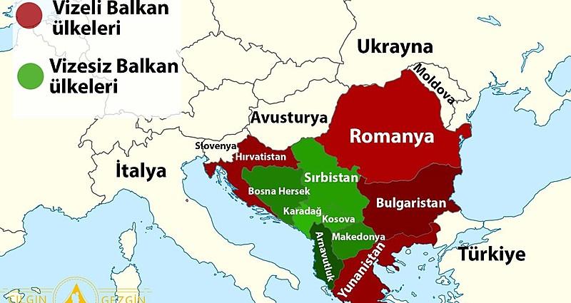 Balkan Ülkeleri ve Sınırları